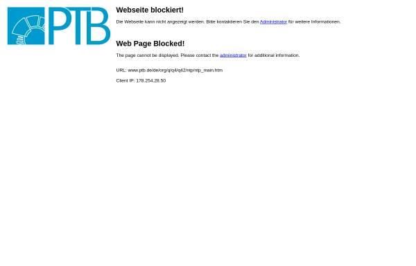 Vorschau von www.ptb.de, Physikalisch-Technische Bundesanstalt (PTB)