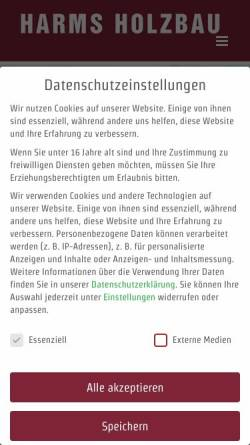 Vorschau der mobilen Webseite www.harms-holzbau.de, Harms Holzbau GmbH
