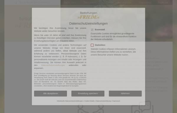 Vorschau von www.bestattungen-friede.de, Bestattungen Friede