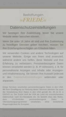 Vorschau der mobilen Webseite www.bestattungen-friede.de, Bestattungen Friede