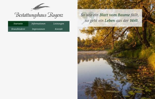 Vorschau von www.bestattungshaus-rogenz.de, Bestattungshaus Rogenz