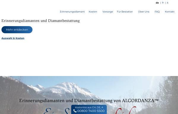 Vorschau von www.algordanza.ch, Algordanza AG