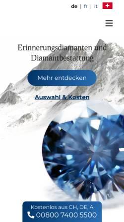 Vorschau der mobilen Webseite www.algordanza.ch, Algordanza AG