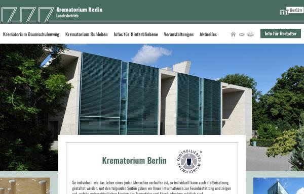 Vorschau von www.krematorium-berlin.de, Krematorium - Berlin