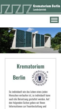 Vorschau der mobilen Webseite www.krematorium-berlin.de, Krematorium - Berlin