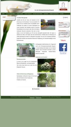 Vorschau der mobilen Webseite www.friedhof-bergstedt.de, Friedhof Hamburg-Bergstedt