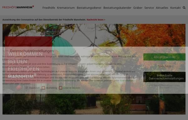 Vorschau von www.friedhof-mannheim.de, Friedhöfe Mannheim