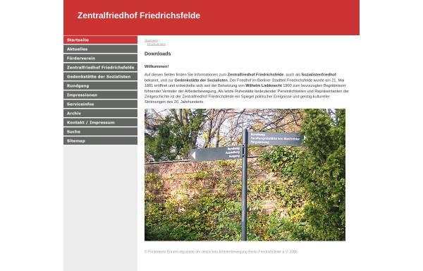 Vorschau von www.sozialistenfriedhof.de, Zentralfriedhof Friedrichsfelde (Sozialistenfriedhof)