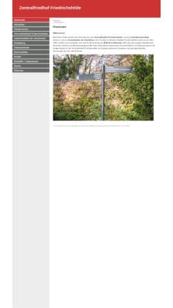 Vorschau der mobilen Webseite www.sozialistenfriedhof.de, Zentralfriedhof Friedrichsfelde (Sozialistenfriedhof)