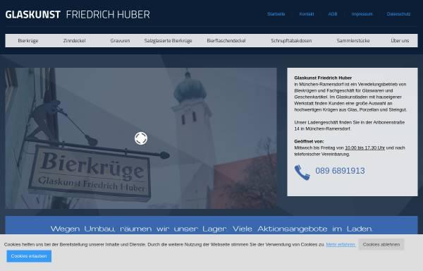 Vorschau von www.glaskunst-friedrich-huber.de, Glaskunst Friedrich Huber
