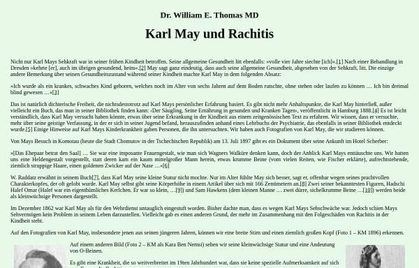 Vorschau von www.karl-may-stiftung.de, Karl May und Rachitis