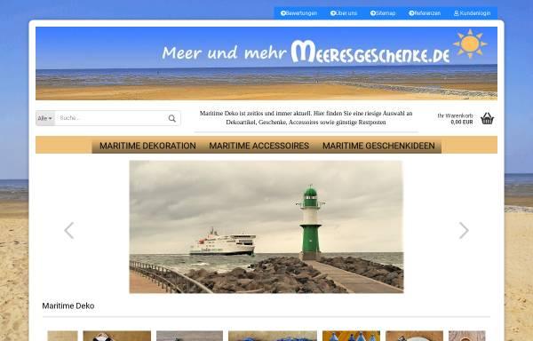 Vorschau von www.meeresgeschenke.de, Meeresgeschenke, Gerrit Weber
