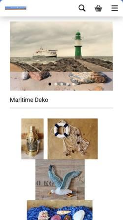 Vorschau der mobilen Webseite www.meeresgeschenke.de, Meeresgeschenke, Gerrit Weber