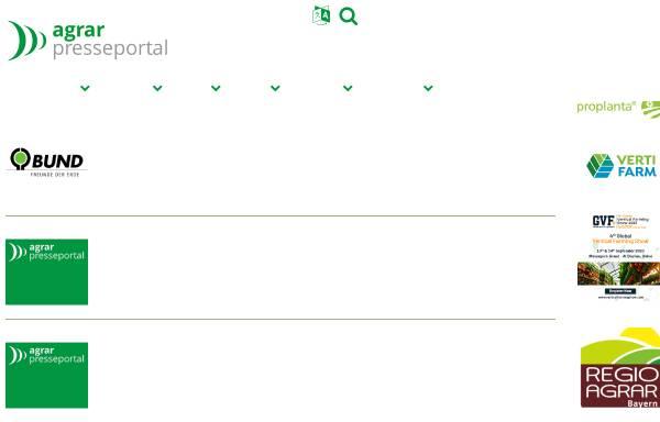 Vorschau von www.agrar-presseportal.de, Agrar-Presseportal