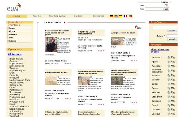 Vorschau von www.runetwork.org, RUN Netzwerk für landwirtschaftliche Entwicklung