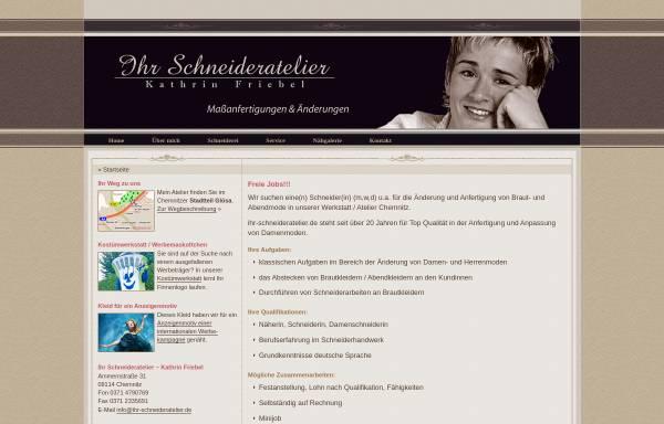 Vorschau von www.ihr-schneideratelier.de, Schneiderei – Kathrin Friebel