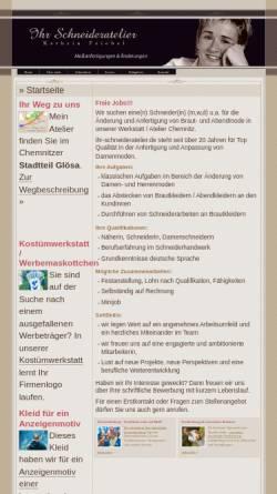 Vorschau der mobilen Webseite www.ihr-schneideratelier.de, Schneiderei – Kathrin Friebel