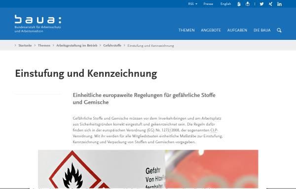 Vorschau von www.baua.de, CMR-Gesamtliste