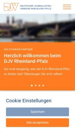 Vorschau der mobilen Webseite www.djv-rlp.de, DJV Rheinland-Pfalz e.V.