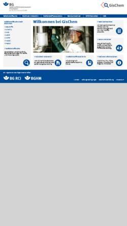 Vorschau der mobilen Webseite www.gischem.de, GisChem - Gefahrstoffinformationssystem der Berufsgenossenschaft der chemischen Industrie