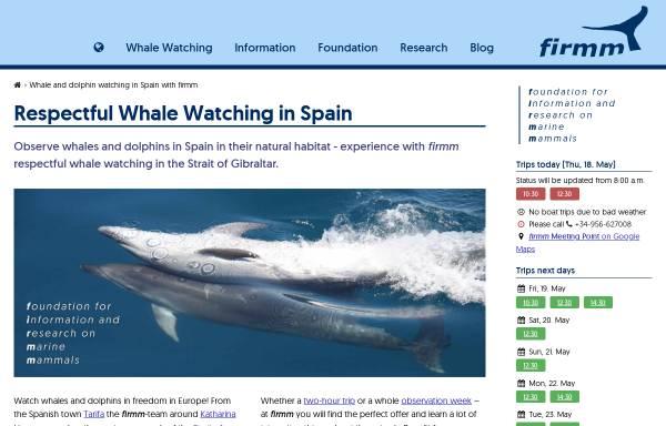 Vorschau von www.firmm.org, Wale und Delfine in der Straße von Gibraltar
