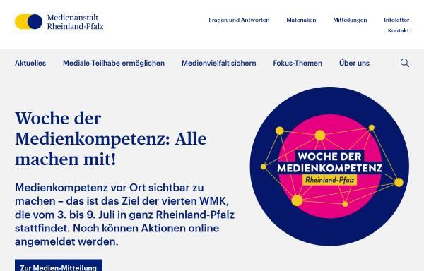 Vorschau von lmk-online.de, Landeszentrale für Medien und Kommunikation Rheinland-Pfalz
