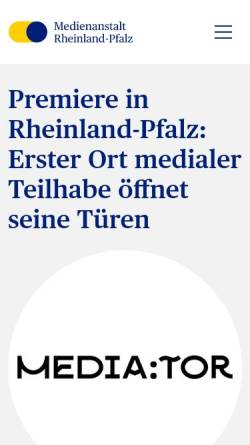 Vorschau der mobilen Webseite lmk-online.de, Landeszentrale für Medien und Kommunikation Rheinland-Pfalz