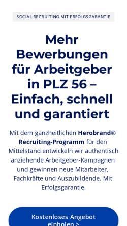 Vorschau der mobilen Webseite www.regiojournal.de, Regiojournal PLZ 56