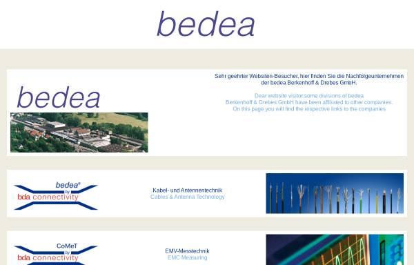 Vorschau von www.bedea.com, Bedea Berkenhoff & Drebes GmbH