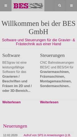 Vorschau der mobilen Webseite www.bes-gmbh.de, BES GmbH