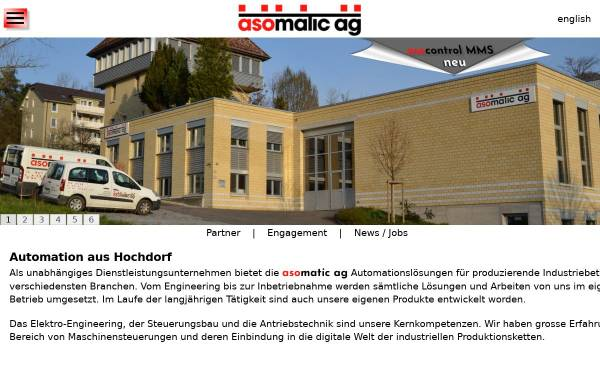 Vorschau von www.asomatic.ch, Asomatic AG