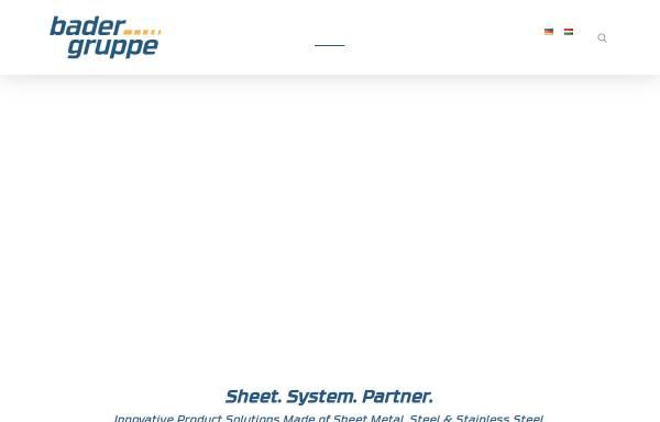 Vorschau von www.bader-w.com, Bader GmbH & Co. KG