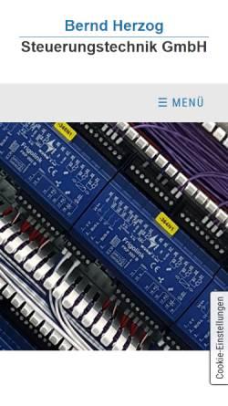 Vorschau der mobilen Webseite www.herzog-steuerungstechnik.de, Bernd Herzog Steuerungstechnik GmbH