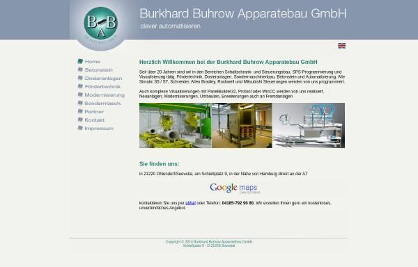 Vorschau von www.buhrow.de, Burkhard Buhrow Apparatebau GmbH