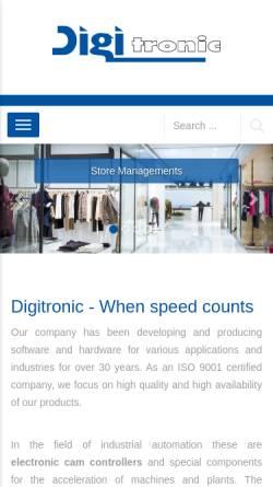 Vorschau der mobilen Webseite www.digitronic.com, Digitronic GmbH