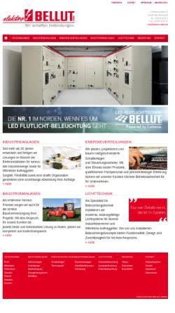 Vorschau der mobilen Webseite www.elektro-bellut.de, Elektro Bellut GmbH