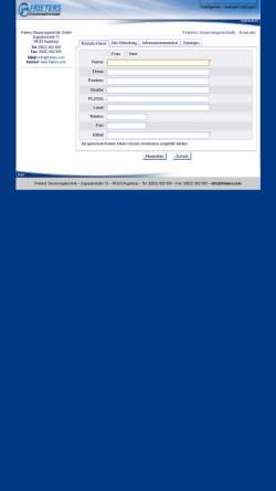 Vorschau der mobilen Webseite www.frieters.com, Frieters Steuerungstechnik, Inh. Oliver Frieters