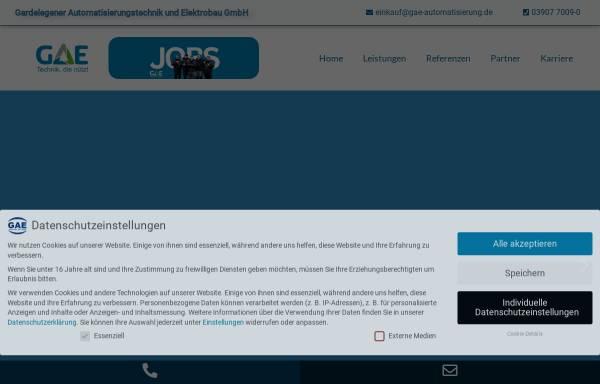 Vorschau von www.gae-automatisierung.de, GAE Gardelegener Automatisierungstechnik und Elektrobau GmbH