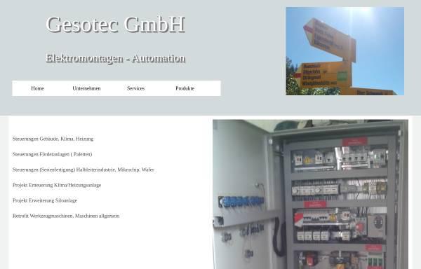 Vorschau von www.gesotec.ch, Gesotec GmbH