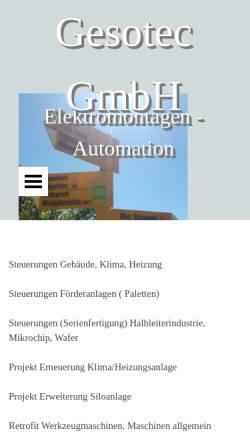 Vorschau der mobilen Webseite www.gesotec.ch, Gesotec GmbH