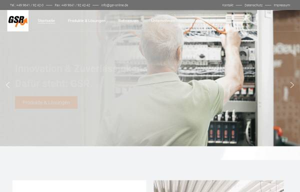 Vorschau von www.gsr-online.de, GSR Gesellschaft für Steuerungs- und Regeltechnik mbH