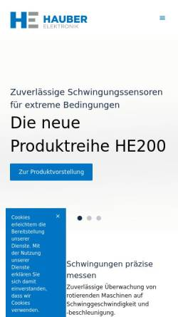 Vorschau der mobilen Webseite www.hauber-elektronik.de, Hauber-Elektronik GmbH