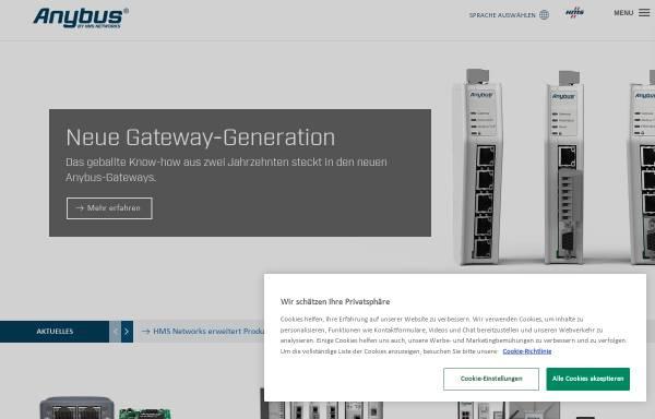 Vorschau von www.anybus.de, HMS Industrial Networks GmbH