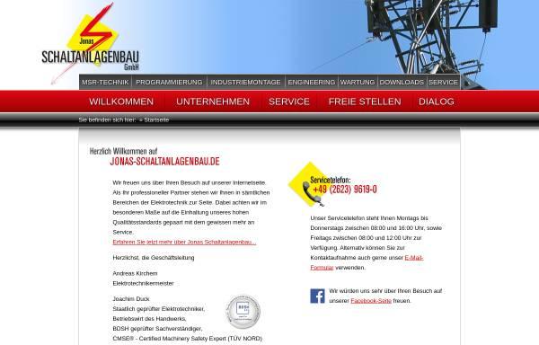 Vorschau von www.jonas-schaltanlagenbau.de, Jonas Schaltanlagenbau GmbH
