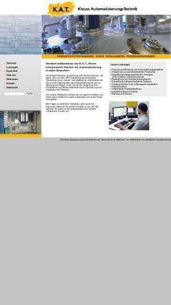 Vorschau der mobilen Webseite www.kat-automatisierung.de, K.A.T. Kleuss AutomatisierungsTechnik Gesellschaft für Prozessautomatisierung mbH & Co. KG