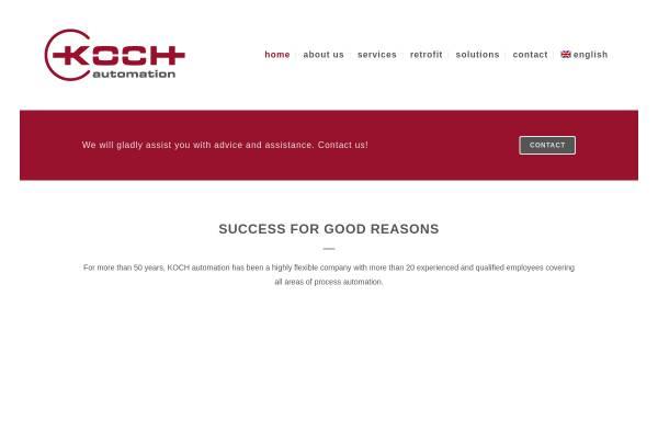 Vorschau von www.koch-elektrobau.de, Koch Elektrobau und Automatisierung GmbH
