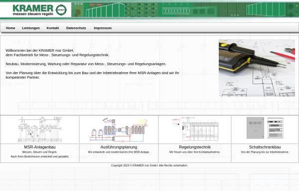 Vorschau von www.schaltschrankbauer.de, KRAMER msr GmbH
