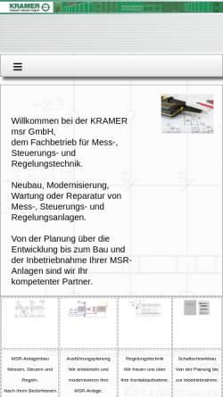 Vorschau der mobilen Webseite www.schaltschrankbauer.de, KRAMER msr GmbH