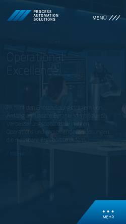 Vorschau der mobilen Webseite www.langundpeitler.de, Lang und Peitler Automation GmbH