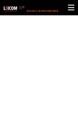 Vorschau der mobilen Webseite www.leicom.ch, Leicom AG